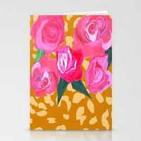Floral And Tiger Print Stationery Cards