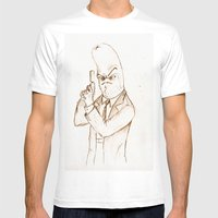 Hotdog Detective  Mens Fitted Tee White SMALL
