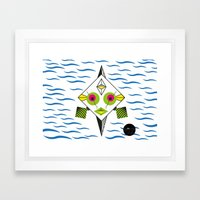 Postmodern Fish Framed Art Print