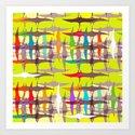 acid pterodactyl weave Art Print
