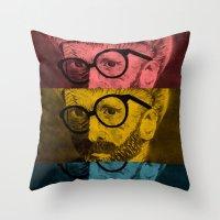 Hipster Van Gogh Throw Pillow