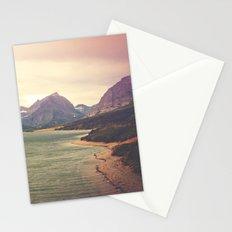 Retro Mountain Lake Stationery Cards