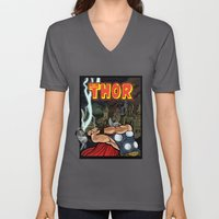 The Mighty Thor, God Of … Unisex V-Neck