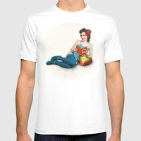 Metroid No.1 Mens Fitted Tee White SMALL