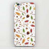 Autumn pattern iPhone & iPod Skin