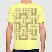 Basket Weave Mens Fitted Tee Lemon SMALL