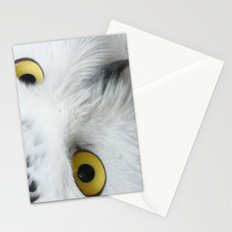 Snowy Owl Eyes Stationery Cards