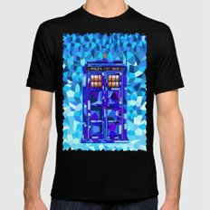 Phone booth Tardis doctor who cubic art iPhone 4 4s 5 5c 6, pillow case, mugs and tshirt Mens Fitted Tee Black SMALL