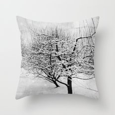 Blankets of Snow Throw Pillow