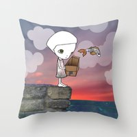 Gone Fishing (2) Throw Pillow