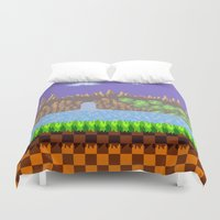 Green Hill Duvet Cover