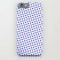 iPhone & iPod Case featuring PINK & BLUE DOT by Mr.DOT