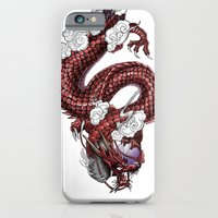 iPhone & iPod Case featuring Japanese Dragon 竜 by Hexapus Ink