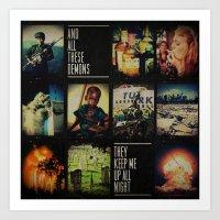 blink-182 - Up All Night Art Print