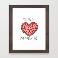 Valentine Pizza Framed Art Print