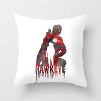 Hawkeye Print Throw Pillow