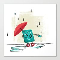 Rain Is Bad For Robots Canvas Print