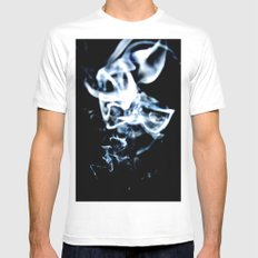 Drifting Smoke Mens Fitted Tee SMALL White