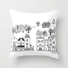 Town and Country Throw Pillow
