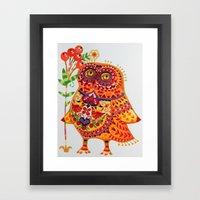 Decorated owl Framed Art Print