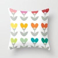 Heart petals Throw Pillow
