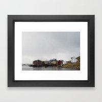 Nyksund, Lofoten Framed Art Print