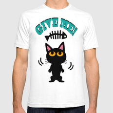 Give Me! Mens Fitted Tee White SMALL