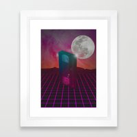 Back To The 80s Framed Art Print