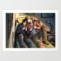 William And Theodore 06 Art Print