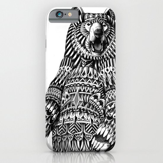 Ornate Grizzly Bear iPhone & iPod Case