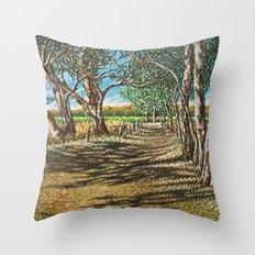 Shaded Path, Nuriootpa Throw Pillow