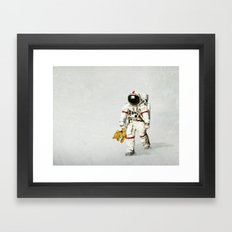 Space can be lonely Framed Art Print