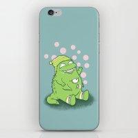 Happy Green Monster iPhone & iPod Skin