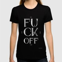Fuck Off Womens Fitted Tee Black SMALL