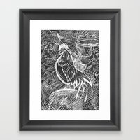 Chicken Scratch Framed Art Print