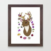 Spring Deer Framed Art Print