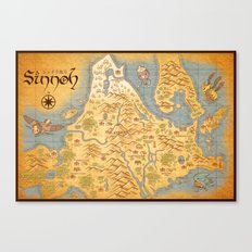 Sinnoh Map Canvas Print