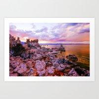 Mono County Rocks, Part … Art Print