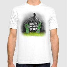 Rock & Roll Never die! Mens Fitted Tee White SMALL
