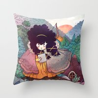Sisters 2/5 Throw Pillow