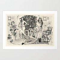 Christmas Party  Art Print