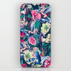 Unicorn and Floral Pattern iPhone & iPod Skin