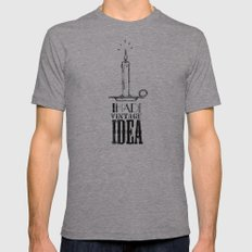 I had a vintage idea! Mens Fitted Tee Athletic Grey SMALL
