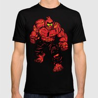 Angry Bird hulk Red Mens Fitted Tee Black SMALL