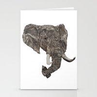 Stationery Card featuring Street Elephant by Jonathan Sundaram