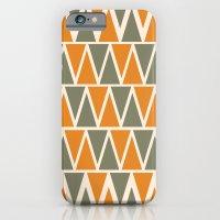 Green And Orange Triangles  iPhone 6 Slim Case