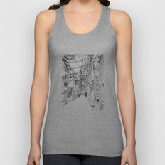 Osaka - downtown street Unisex Tank Top