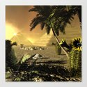 Pyramid in the sunet Canvas Print