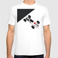 RA273 Mens Fitted Tee White SMALL