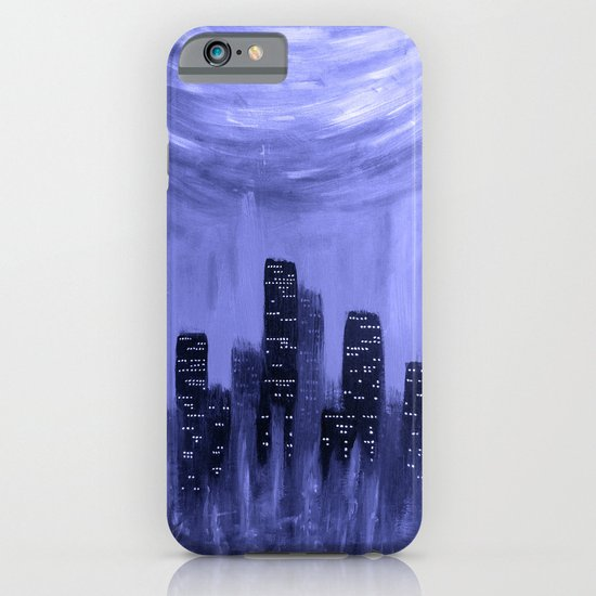 City of Fire ~ Blue  iPhone & iPod Case